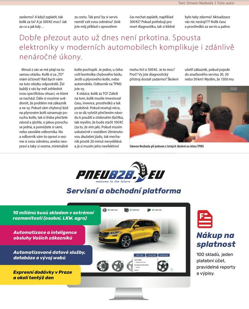 Pneurevue - TPMS jako příležitost 2