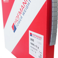 HOFMANN – šedé železné samolepící závaží v kotouči 5kg