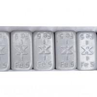 TRAX Standard – šedé železné samolepící závaží 12x5g